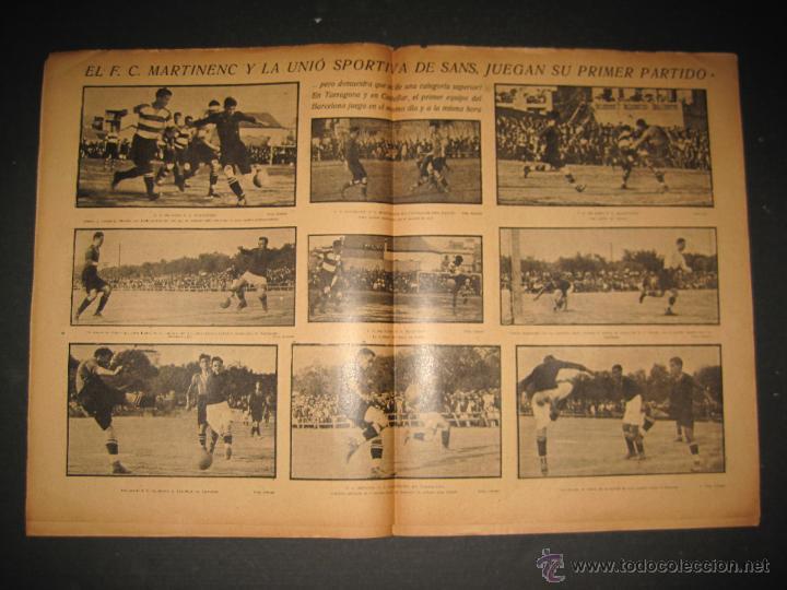 Coleccionismo deportivo: FUTBOL U.S. SANS , F.C. MARTINENC -JORNADA DEPORTIVA NUM.54 - AGOSTO 1922-(CD-1385) - Foto 6 - 47446823