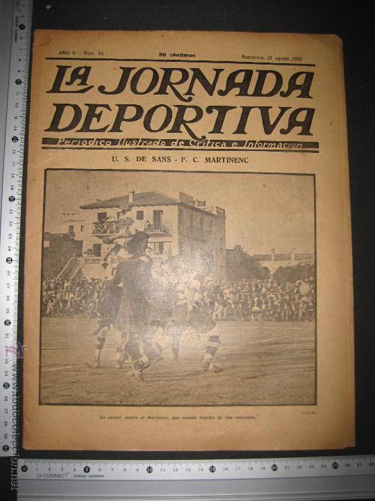Coleccionismo deportivo: FUTBOL U.S. SANS , F.C. MARTINENC -JORNADA DEPORTIVA NUM.54 - AGOSTO 1922-(CD-1385) - Foto 12 - 47446823