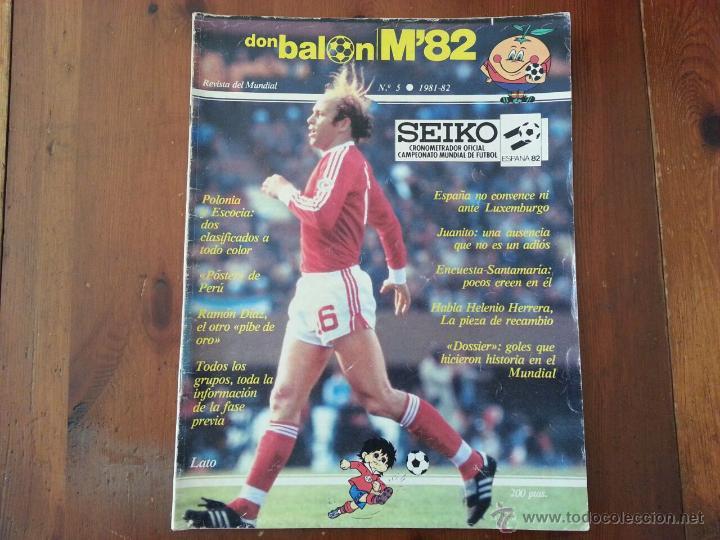 DON BALON N° 5 REVISTA MUNDIAL 82 (Coleccionismo Deportivo - Revistas y Periódicos - Don Balón)
