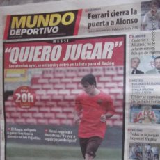 Coleccionismo deportivo: MUNDO DEPORTIVO-Nº27.787-48 PAGINAS-13-09-08-MESSI-MARQUEZ-GUARDIOLA-. Lote 47551446