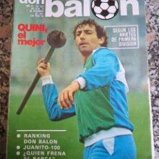 Coleccionismo deportivo: 1.981 DON BALON N.º 322 REPORTAJE BARCELONA QUINI JUANITO. Lote 47563150