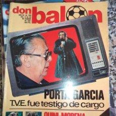 Coleccionismo deportivo: 1.981 DON BALON N.º 280 POSTER VALLADOLID QUINI MORAN EL BETIS. Lote 47563652