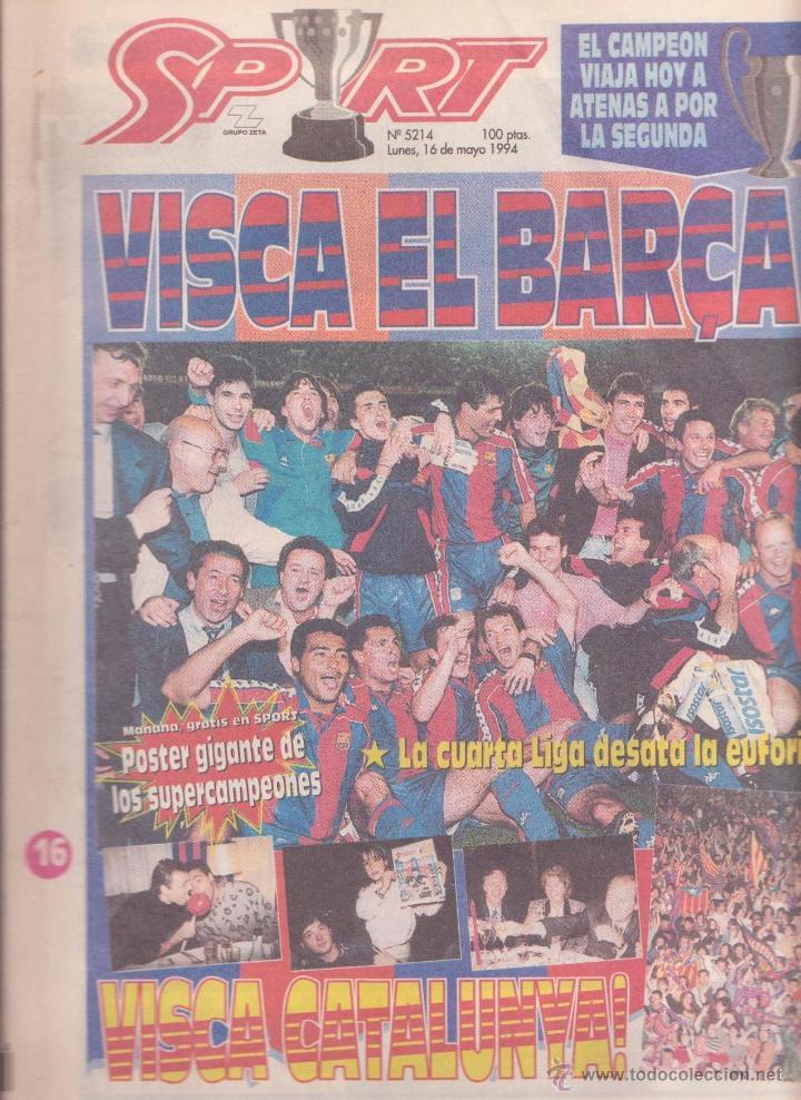 diario sport cuarta liga futbol club barcelona - Buy Old Newspaper ...