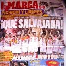 Coleccionismo deportivo: DIARIO MARCA BALONCESTO ESPAÑA CAMPEONA EUROPA 2009. Lote 47736493