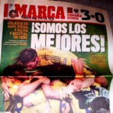 Coleccionismo deportivo: DIARIO MARCA ESPAÑA EUROCOPA 2008 CONTRA RUSIA A LA FINAL. Lote 47760466