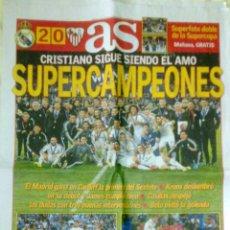 Coleccionismo deportivo: DIARIO AS REAL MADRID CAMPEON SUPERCOPA EUROPA 2014 AL SEVILLA. Lote 47760581