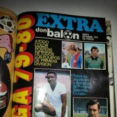 Coleccionismo deportivo: DON BALON TOMO CON 20 REVISTAS DE JUNIO A OCTUBRE DE 1978 ,EXTRA LIGA 79/80 Y POSTERS. Lote 47808470