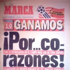Coleccionismo deportivo: MARCA. 1993. GANAMOS. POR CORAZONES. ESPAÑA ESTÁ EN EL MUNDIAL DEL 94.. Lote 236947200
