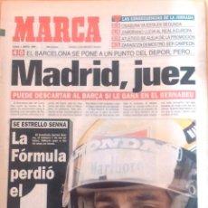 Coleccionismo deportivo: MARCA. 1994. MURIÓ SENNA, EL NÚMERO 1 DE LA FÓRMULA UNO.. Lote 54847151