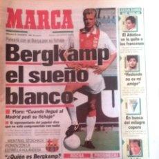 Colecionismo desportivo: MARCA. 1992. BERGKAMP EL SUEÑO BLANCO.. Lote 47869407