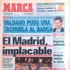 Coleccionismo deportivo: MARCA. 1993. EL MADRID, IMPLACABLE. EL ÚNICO PERSEGUIDOR QUE AGUANTÓ EL TIRÓN DEL DEPOR.. Lote 47894206