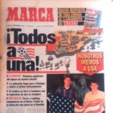 Coleccionismo deportivo: MARCA. 1993. TODOS A UNA. WORLD CUP´94. Lote 47903622
