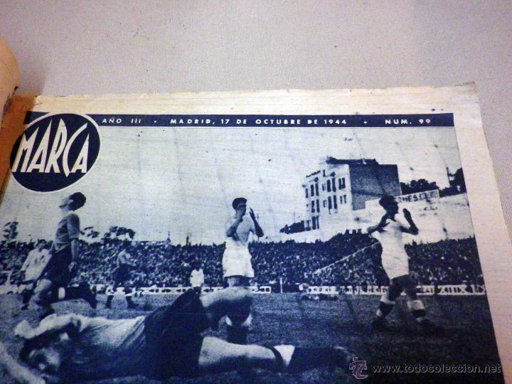 Coleccionismo deportivo: SUPLEMENTO GRAFICO DE DEPORTES, MARCA, Nº 99, OCTUBRE 1944, - Foto 3 - 47914301