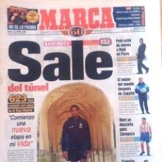 Coleccionismo deportivo: MARCA. 1998. KAREMBEU SALE DEL TÚNEL.. Lote 47914450