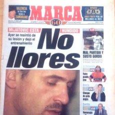 Coleccionismo deportivo: MARCA. 1998. MIJATOVIC ESTÁ HUNDIDO, NO LLORES.. Lote 47914891