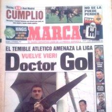 Coleccionismo deportivo: MARCA. 1997. EL TEMIBLE ATLETICO AMENAZA LA LIGA. VUELVE VIERI. DOCTOR GOL.. Lote 47915598