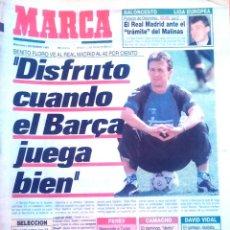 Coleccionismo deportivo: MARCA. 1992. BENITO FLORO VE AL REAL MADRID AL 40 POR CIENTO. DISFRUTO CUANDO EL BARÇA JUEGA BIEN.. Lote 47935728
