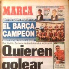 Coleccionismo deportivo: MARCA. 1993. REAL MADRID Y BARCELONA DEDICAN LA JORNADA A SUMAR GOLES. QUIEREN GOLEAR.. Lote 47950064