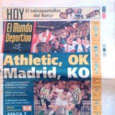 Coleccionismo deportivo: MUNDO DEPORTIVO. 1998. ATHLETIC, OK. MADRID, KO. Lote 48094709