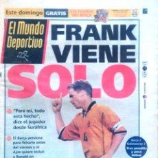 Coleccionismo deportivo: MUNDO DEPORTIVO. 1999. FRANK VIENE SOLO.. Lote 48103572