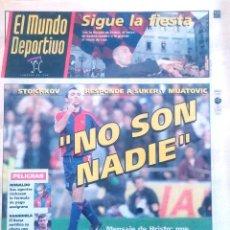 Coleccionismo deportivo: MUNDO DEPORTIVO. 1997. STOICHKOV RESPONDE A SUKER Y MIJATOVIC. NO SON NADIE. Lote 48114343
