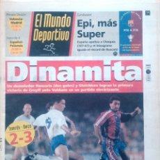 Coleccionismo deportivo: MUNDO DEPORTIVO. 1993. DINAMITA. UN DEMOLEDOR ROMARIO Y STOICHKOV, VICTORIA DE CRUYFF.. Lote 48116033