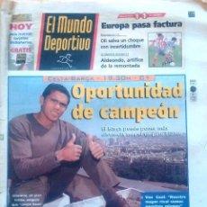 Coleccionismo deportivo: MUNDO DEPORTIVO. 1998. OPORTUNIDAD DE CAMPEÓN. GIOVANNI.. Lote 48145745