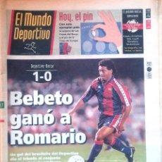 Coleccionismo deportivo: MUNDO DEPORTIVO. 1993. BEBETO GANÓ A ROMARIO. DEPORTIVO-BARÇA 1-0. Lote 48154976