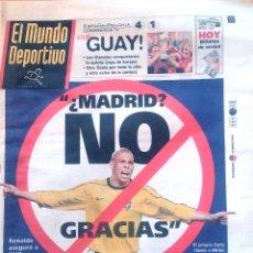 Coleccionismo deportivo: MUNDO DEPORTIVO. 1999. ¿MADRID? NO, GRACIAS. Lote 48161726