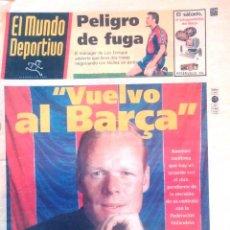 Coleccionismo deportivo: MUNDO DEPORTIVO. 1998. KOEMAN. VUELVE AL BARÇA. Lote 48185880