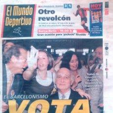 Coleccionismo deportivo: MUNDO DEPORTIVO. 1999. EL BARCELONISMO VOTA CASAUS.. Lote 48189176