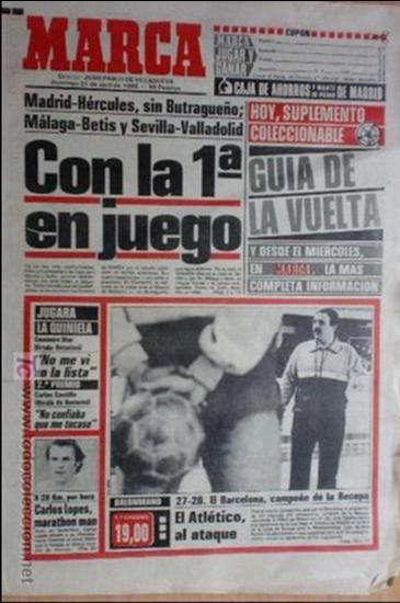 MARCA-1985-Nº13461-CON LA PRIMERA EN JUEGO-MOLOWNY-DE CARLOS-ABLANEDO-CARRIEGA-ARSENIO (Coleccionismo Deportivo - Revistas y Periódicos - Marca)