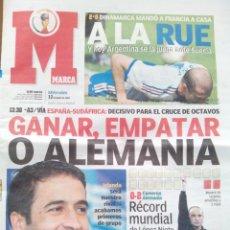 Coleccionismo deportivo: MARCA 12 JUNIO 2002. MUNDIAL DE COREA. ELIMINACIÓN FRANCIA.. Lote 48350405