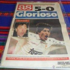 Coleccionismo deportivo: AS Nº 8790. 8-1-95. REAL MADRID 5 BARCELONA 0, MANITA AL BARÇA. ZAMORANO CRUYFF. BUEN ESTADO. MÍTICO. Lote 48354294