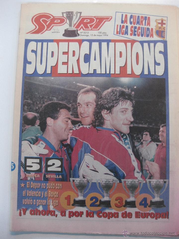 diario sport nº 5213. la cuarta liga seguida de - Comprar Periódicos ...