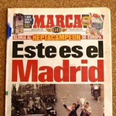Coleccionismo deportivo: DIARIO MARCA - 22 DE MAYO 1998, 98 - HEPTACAMPEON REAL MADRID - . Lote 48508360