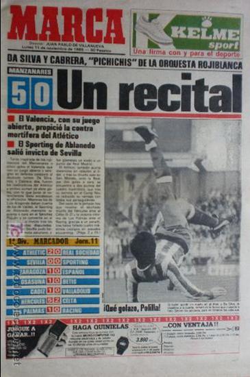 MARCA-1985-Nº13636-LA LIGA-SETIEN-CLEMENTE-CARDO-NOVOA-LUIS COSTA-PAQUITO-CANTATORE-MAGUREGUI-ALZATE (Coleccionismo Deportivo - Revistas y Periódicos - Marca)