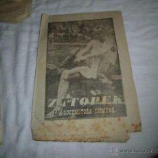 Coleccionismo deportivo: ZATOPEK.LA LOCOMOTORA HUMANA..40 DIAS,40 ASES,40 BIOGRAFIAS.ATLETISMO.MARCA 19-8-1963. Lote 48700637