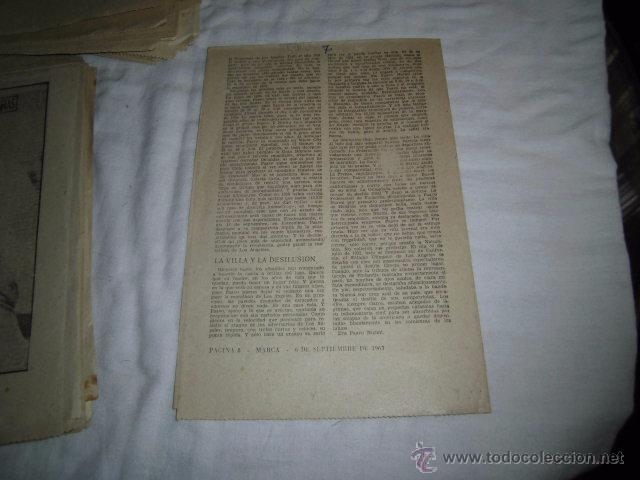 Coleccionismo deportivo: PAAVO NURMI.LA ESFINGE MUDA.40 DIAS,40 ASES,40 BIOGRAFIAS.ATLETISMO.MARCA 6-9-1963 - Foto 2 - 48701696
