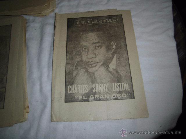 CHARLES SONNY LISTON EL GRAN OSO.40 DIAS,40 ASES,40 BIOGRAFIAS.BOXEO.MARCA 13-9-1963 (Coleccionismo Deportivo - Revistas y Periódicos - Marca)