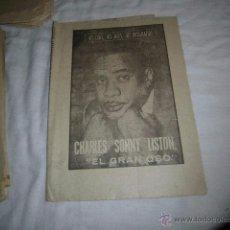 Coleccionismo deportivo: CHARLES SONNY LISTON EL GRAN OSO.40 DIAS,40 ASES,40 BIOGRAFIAS.BOXEO.MARCA 13-9-1963. Lote 48701827