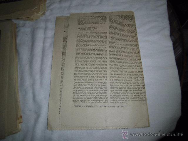 Coleccionismo deportivo: CHARLES SONNY LISTON EL GRAN OSO.40 DIAS,40 ASES,40 BIOGRAFIAS.BOXEO.MARCA 13-9-1963 - Foto 2 - 48701827