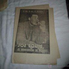 Coleccionismo deportivo: JOSE LOUIS EL BOMBARDERO DE DETROIT.40 DIAS,40 ASES,40 BIOGRAFIAS.BOXEO.MARCA 16-8-1963. Lote 48701928