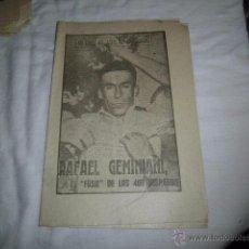 Coleccionismo deportivo: RAFAEL GEMINIANI.EL FUSIL DE LOS 400 DISPAROS.40 DIAS,40 ASES,40 BIOGRAFIAS.CICLISMO.MARCA 11-9-1963. Lote 48702030