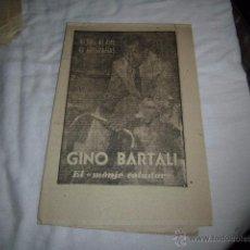 Coleccionismo deportivo: GINO BARTALI.EL MONJE VOLADOR.40 DIAS,40 ASES,40 BIOGRAFIAS.CICLISMO.MARCA 10-8-1963. Lote 48702074