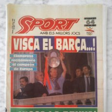 Coleccionismo deportivo: DIARIO SPORT - Nº 4497 - 22/5/1992 - F.C. BARCELONA CAMPEÓN DE EUROPA BARÇA EXTRA CELEBRACIÓN. Lote 48726206