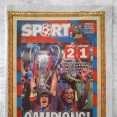 Coleccionismo deportivo: DIARIO SPORT - Nº 9562 - 18/6/2006 - F.C. BARCELONA CAMPEÓN DE EUROPA CHAMPIONS BARÇA 2-1 ARSENAL. Lote 48745966