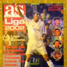 Coleccionismo deportivo: GUIA AS LIGA 2001-2002 ZIDANE PALERMO CAÑIZARES FRAN SAVIOLA. Lote 48782442