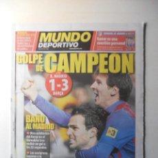 Coleccionismo deportivo: DIARIO MUNDO DEPORTIVO. REAL MADRID 1 FC BARCELONA 3 LIGA 2011/12 BARÇA. Lote 48930404