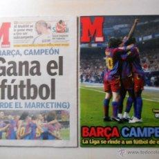 Coleccionismo deportivo: FC BARCELONA CAMPEON DE LIGA 2005/06 PERIODICO MARCA+REVISTA ESPECIAL MAYO 2006 BARÇA. Lote 54450955